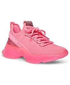 Women's Maxima Rhinestone-Trim Trainer Sneakers