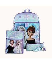 Kids Frozen 6 Piece Backpack Set
