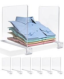 Shelf Dividers Set, 6 Pieces