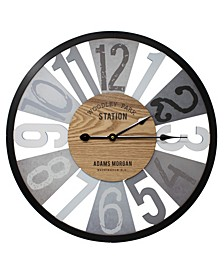 "Large Decorative 24"" Wall Clock"