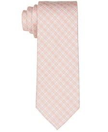 Men's Banded Dot Grid Slim Tie