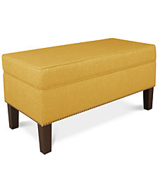 Fairfax Fabric Storage Bench, Quick Ship