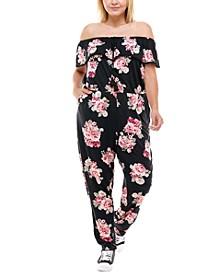 Trendy Plus Size Off-The-Shoulder Jumpsuit