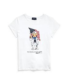 Toddler, Little and Big Girls Team USA Polo Bear Cotton Jersey T-shirt