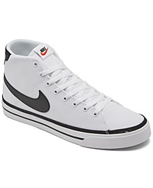 Men's Court Legacy Canvas Casual Mid Sneakers from Finish Line