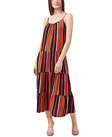 Tiered Striped Dress