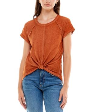 Juniors' Knot-Hem T-Shirt