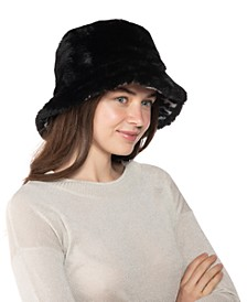 Reversible Faux Fur Bucket Hat, Created for Macy's