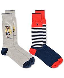 Men's Crew Socks - 2-Pack