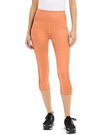 High-Rise Side-Pocket Cropped Leggings, Created for Macy's