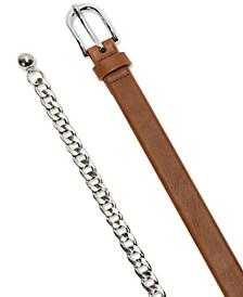 Panel & Chain Belts, Set of 2