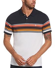 Men's Slim-Fit Colorblocked Stripe Polo Shirt