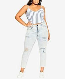 Plus Size Summer Stripe Top
