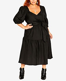 Plus Size Sweet Sleeve Dress