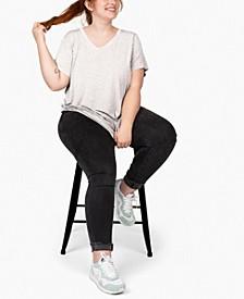 Plus Size Short Sleeve Tunic T-shirt