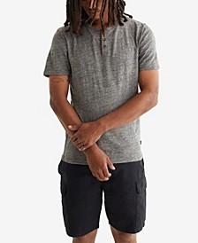 Men's Linen Henley T-shirt