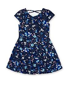 Toddler Girls Short Sleeve All Over Print Skater Dress