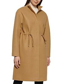 Petite Single-Breasted Anorak Coat