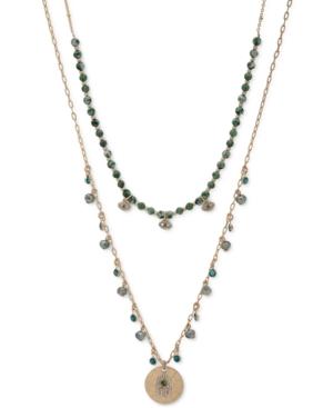 "Gold-Tone Evil Eye & Hamsa Hand 20"" Layered Pendant Necklace"
