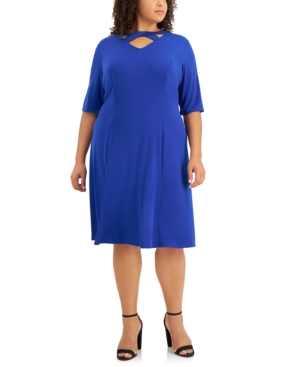 Plus Size Strappy Fit & Flare Dress