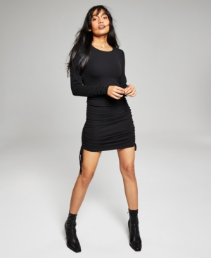 Women's Ruched-Side Bodycon Dress