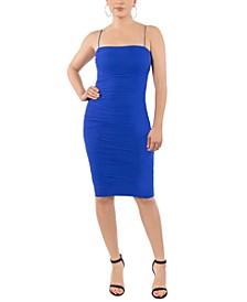 Mesh Ruched Tube Dress