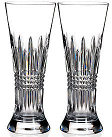 Waterford Lismore Diamond Pilsner Beer Glasses, Set of 2