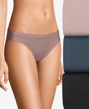 Women's 3-Pk. Multi Fresh & Dry Leak Protection Liner Bikini Period Underwear