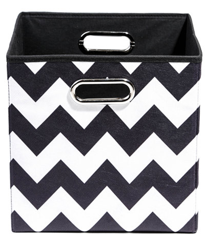 Modern Littles Patterned Folding Storage Bins Cleaning