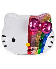"""CLOSEOUT! GUND Sanrio Hello Kitty Color Changing Rainbow Sequin Pillow Plush, 11.75"""""""