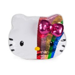 Closeout! Gund Sanrio Hello Kitty Color Changing Rainbow Sequin Pillow Plush, 11.75