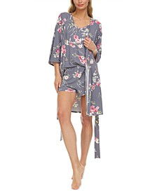 Hannah Robe, Tank Top & Shorts Travel Pajama Set