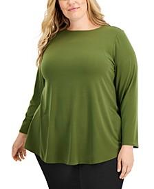 Plus Size Shirttail-Hem Tunic, Created for Macy's