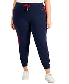 Plus Size Colorblocked Side-Striped Joggers