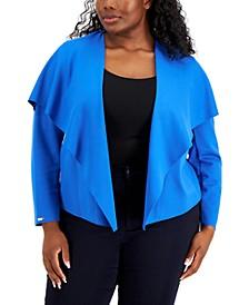 Plus Size Serenity Drape-Front Jacket