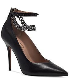 Women's Witnee Chain Ankle-Strap Pumps