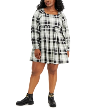 Trendy Plus Size Printed Fit & Flare Dress