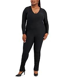 Trendy Plus Size Stacked-Leg Jumpsuit