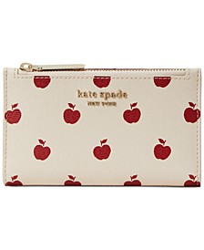 Apple Toss Printed Small Slim Bifold Wallet