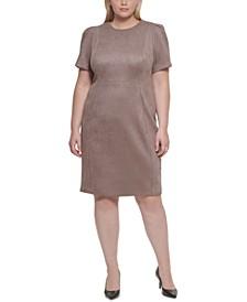 Plus Size Stretch Faux-Suede Sheath Dress