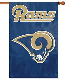 Party Animal Los Angeles Rams Applique House Flag
