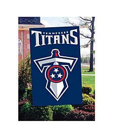 Party Animal Tennessee Titans Applique House Flag