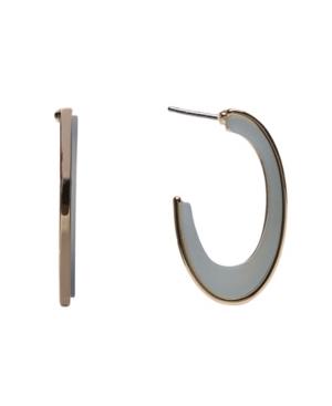 Resin Oval Hoop Earrings