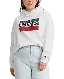 Trendy Plus Size Logo Hoodie
