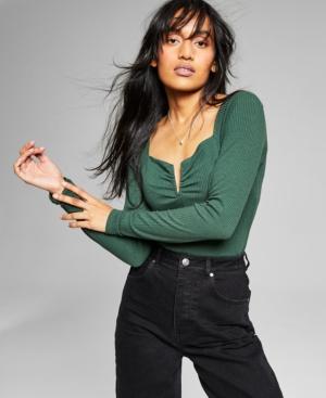 Women's Notched V-Neck Bodysuit