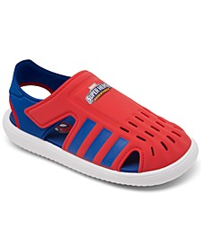 Little Boys Swimming Stay-Put Spiderman Water Sandals from Finish Line