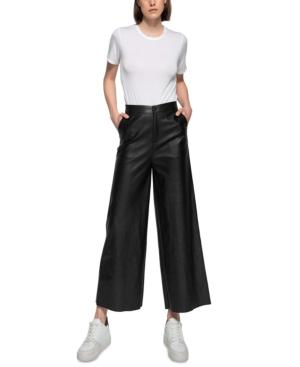 Dauntless Nikole Faux Leather Wide-Leg Culottes