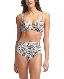 Printed Underwire Bikini Top & Convertible Bottoms