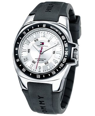 Tommy Hilfiger Watch, Men's Rubber Strap 1790485