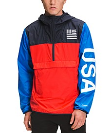 Men's International Collection Relaxed-Fit Colorblocked DWR Anorak